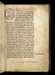 Decorated Heading And Initial, In A Copy Of Bede's History Of The English Church f.2r